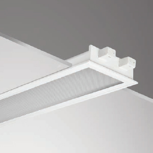 โคมฝังฝ้าหน้าพลาสติก LRSTP 600 2S 2x18W 60x60cm.